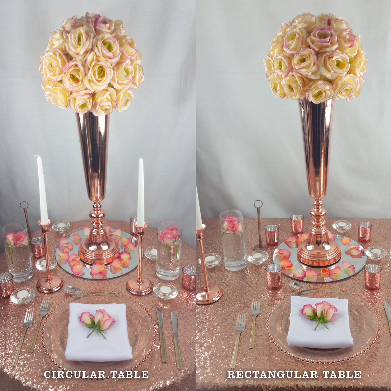 angels and gypsies table decor hire package