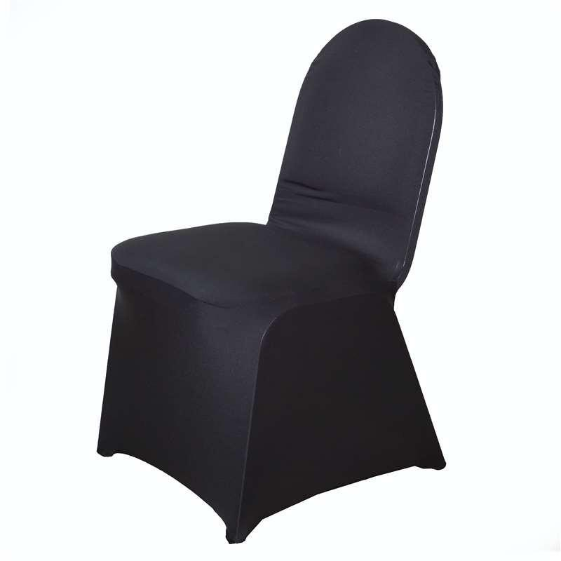 Black spandex chair cover. From £1.50 each.