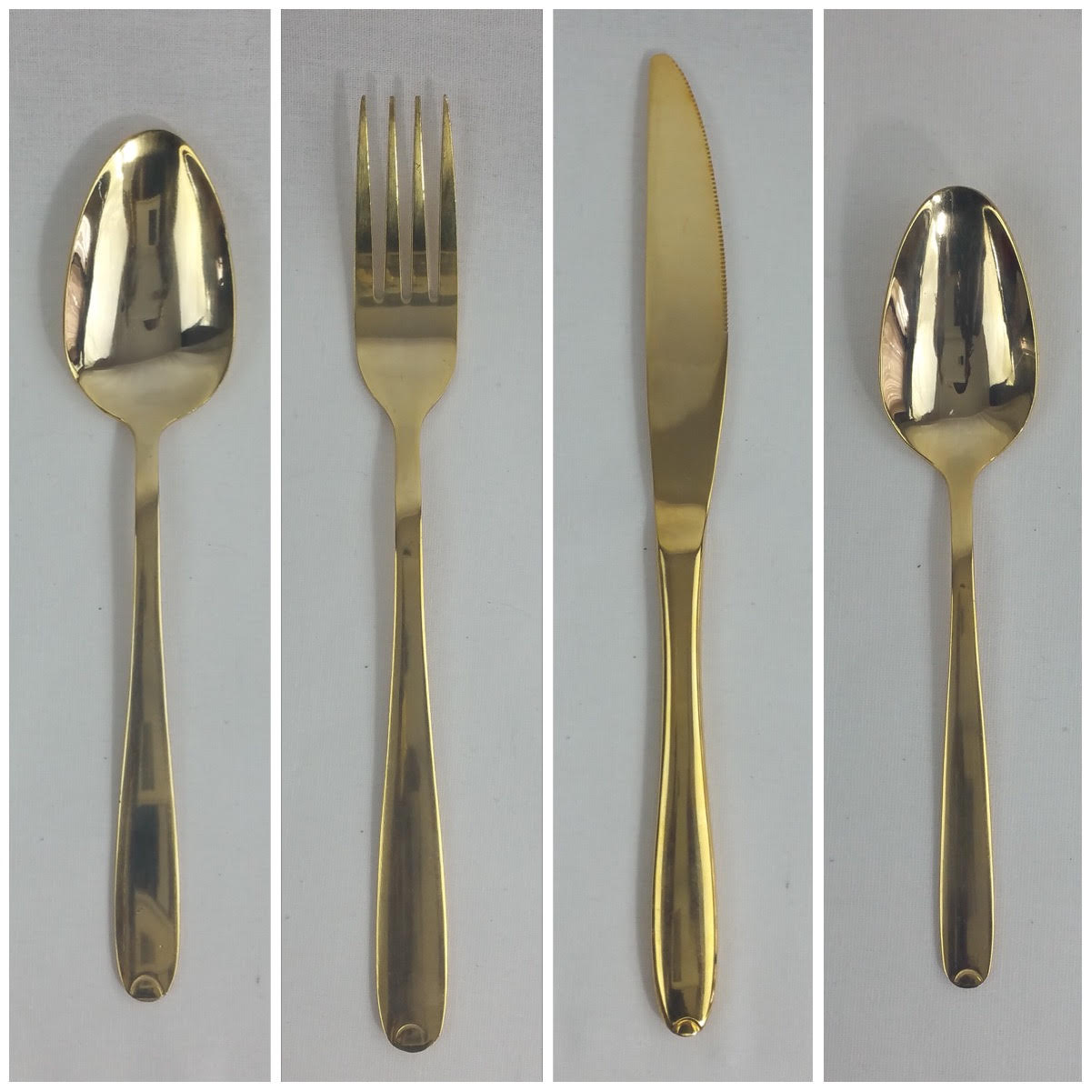 Gold cutlery. From £0.30p per piece.