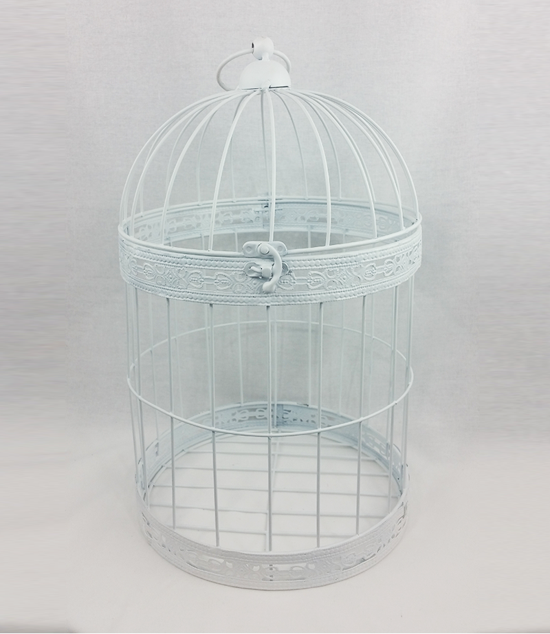 Large white bird cage. 40cm x 24 cm. From £6 each.
