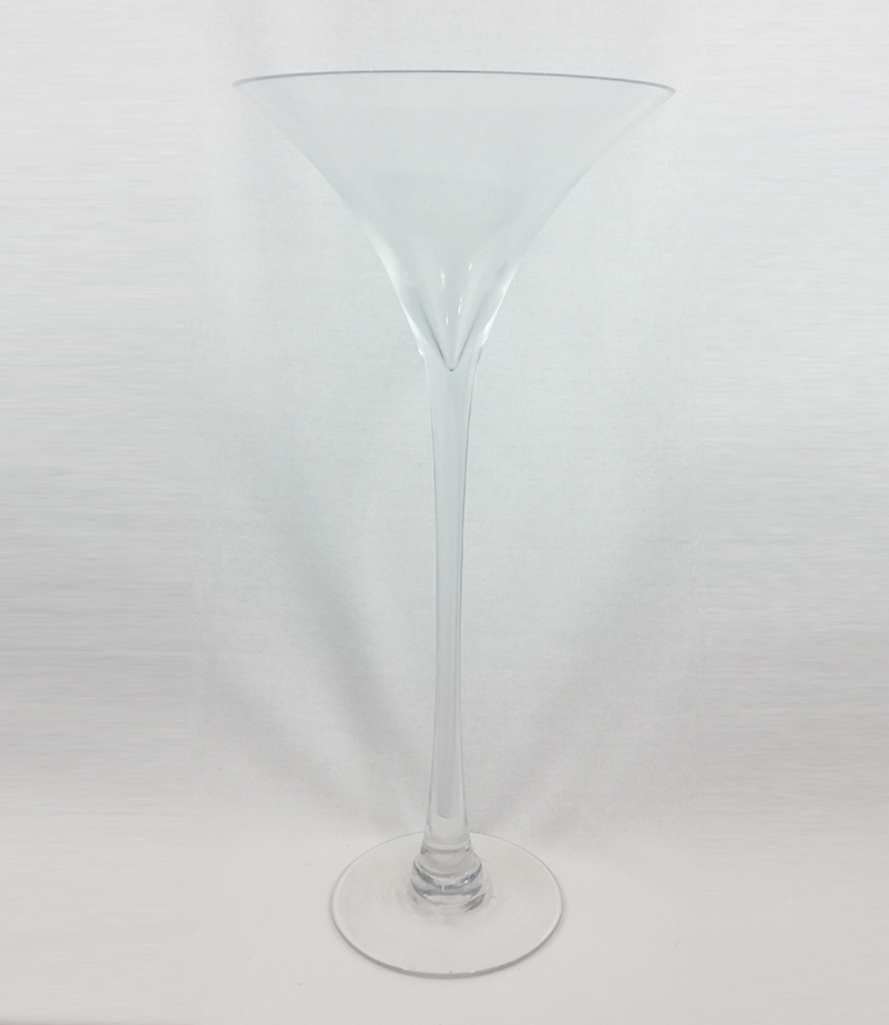 Martini vase. 50cm tall. £7 each.