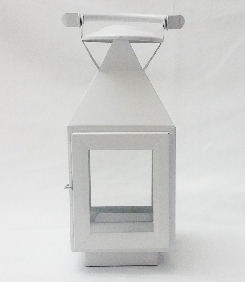 White lantern. 23cm x 10cm. From £4.50 each.