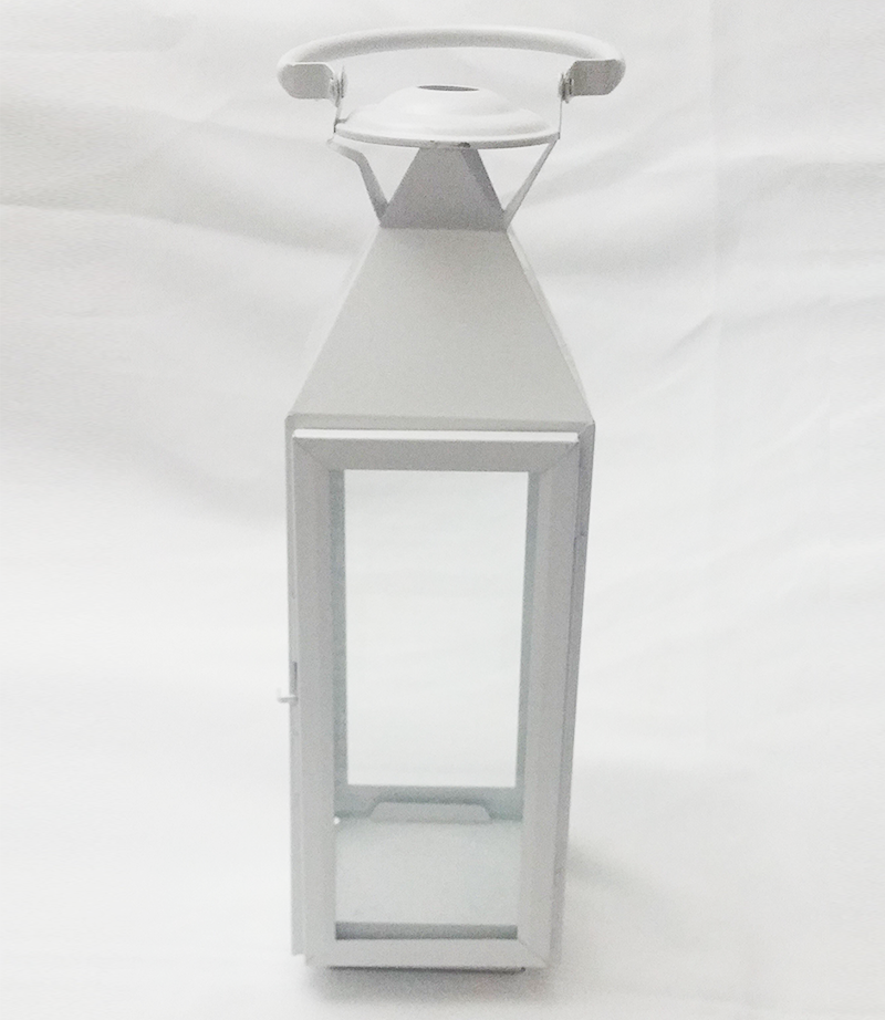 White lantern. 40cm x 12cm. From £9 each.
