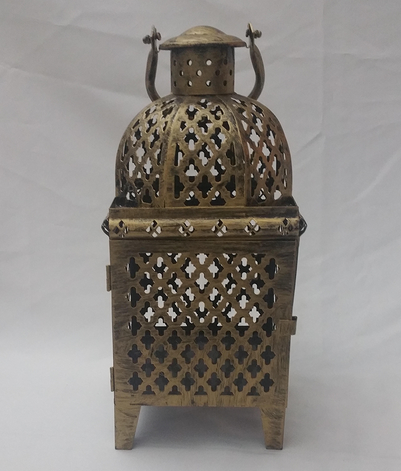 Antique Gold Moroccan lantern. 38cm x 17cm. From £5.50 each.