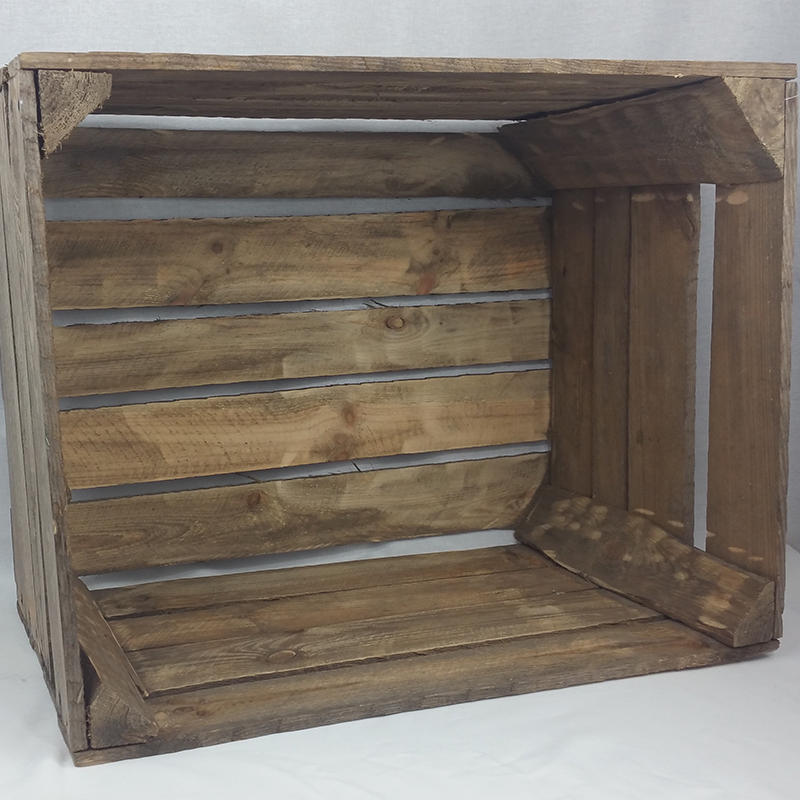 Rustic wooden crate. 50cm x 40cm x 30cm. From £20 for 6 crates
